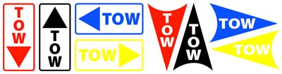 Tow Hook Decals Product Group