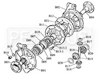 Webster / Hewland Mk-Series Differential Parts (Drawing B) Product Group