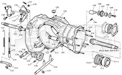 Webster / Hewland Mk-Series Maincase Parts (Drawing C) Product Group