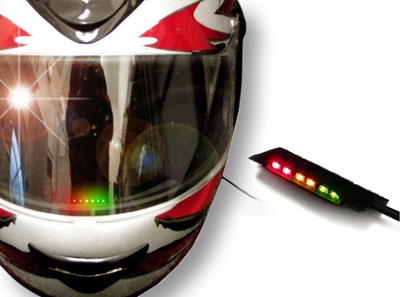 Large photo of SPA Design Helmet Mounted Shift Light, Pegasus Part No. 1065