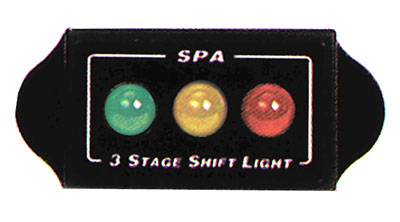 Large photo of SPA Design 3 Stage Remote Shift Light Unit, Pegasus Part No. 1066