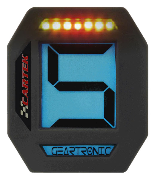 Large photo of Cartek Digital Gear Indicator with Sequential Shift Light, Pegasus Part No. 1068-102