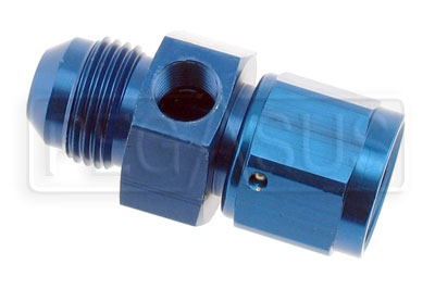 Large photo of 8AN Male to 8AN Female Adapter with 1/8 NPT in Hex, Pegasus Part No. 1069-08MF
