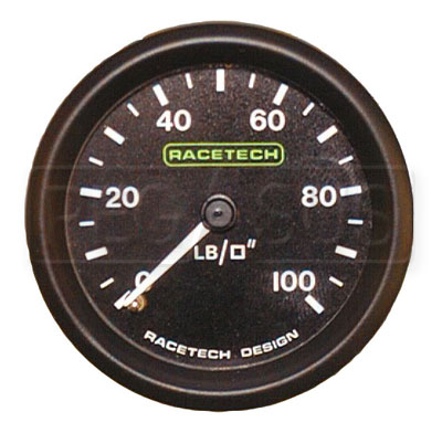 Large photo of Racetech Mechanical Oil Pressure Gauge, Pegasus Part No. 1091-Size