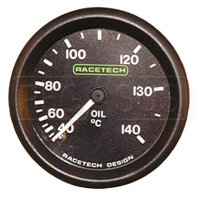 Large photo of Racetech 140 C Oil Temperature Gauge, Pegasus Part No. 1093-Size