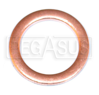 Large photo of 10mm Copper Washer for Racetech Gauge Temp Bulb, Pegasus Part No. 1096