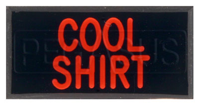 Large photo of Dash Badge Identification Plate (Cool Shirt), Pegasus Part No. 1100-COOLSHIRT