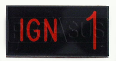 Large photo of Dash Badge Identification Plate (Ign1), Pegasus Part No. 1100-IGN1