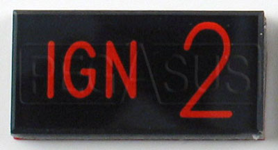 Large photo of Dash Badge Identification Plate (Ign2), Pegasus Part No. 1100-IGN2