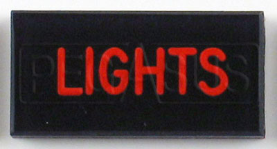 Large photo of Dash Badge Identification Plate (Lights), Pegasus Part No. 1100-LIGHTS