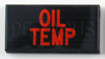Large photo of Dash Badge Identification Plate (Oil Temp), Pegasus Part No. 1100-OILTEMP