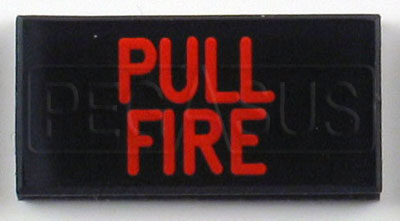 Large photo of Dash Badge Identification Plate (Pull Fire), Pegasus Part No. 1100-PULLFIRE