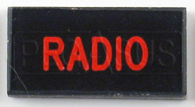 Large photo of Dash Badge Identification Plate (Radio), Pegasus Part No. 1100-RADIO