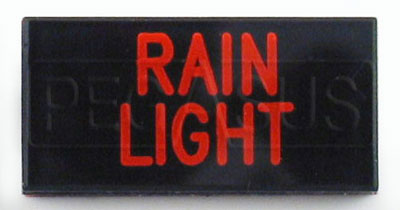 Large photo of Dash Badge Identification Plate (Rain Light), Pegasus Part No. 1100-RAINLIGHT