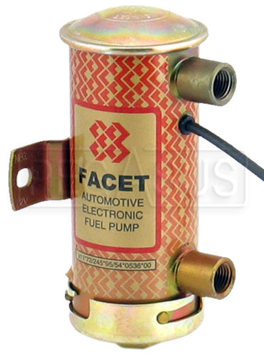 Large photo of Facet Blue Top Cylindrical Fuel Pump - 1/4 NPT Ports, Pegasus Part No. 1106