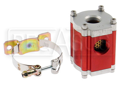 Large photo of Canton 4 inch Machined Aluminum Fuel Filter Assembly, Pegasus Part No. 1127