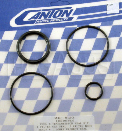 Large photo of Viton Seal Kit for Canton Remote Mount Fuel Filter, Pegasus Part No. 1129