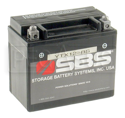 Large photo of (B) 12-Volt 8AH Sealed Battery for Coleman Mini Starter, Pegasus Part No. 1167