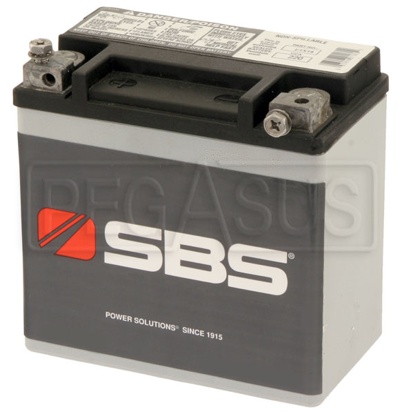 Large photo of (B) 12 AH Sealed Racing Battery, Pegasus Part No. 1169