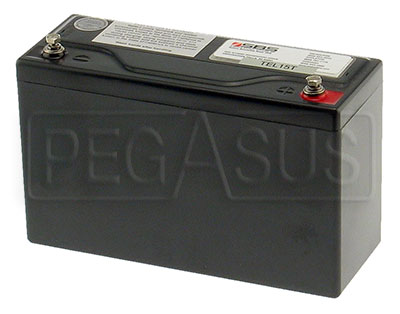 Large photo of (B) 15 AH Sealed Racing Battery, Pegasus Part No. 1172