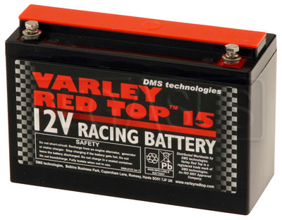 Large photo of (B) Varley Red Top 15 Battery, 15AH, Pegasus Part No. 1175