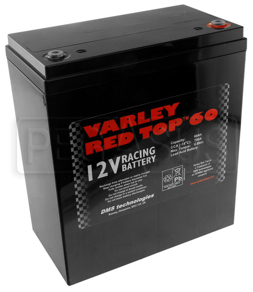 Large photo of (B) Varley Red Top 60 Battery, 51AH, Pegasus Part No. 1177-004