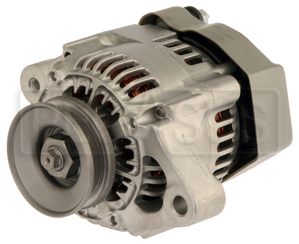 Large photo of Single Wire 50 Amp Ultra-Mini Alternator, Pegasus Part No. 1177-501