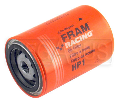 Large photo of Fram HP-1 High-Performance Oil Filter, 3/4-16 Thread, Long, Pegasus Part No. 1201