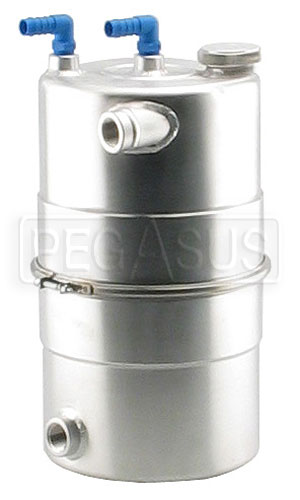 "Large photo of EasyClean Oil Tank 9.5"" dia x 16"" high, 16AN, Pegasus Part No. 1216"