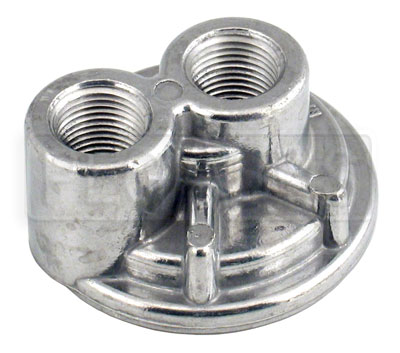 Large photo of Spin-On Remote Oil Filter Adapter, 1/2 NPT Ports, Pegasus Part No. 1230-Size