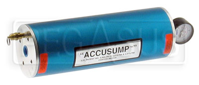 Large photo of 2 Quart Canton Accusump Cylinder, Pegasus Part No. 1240-Size