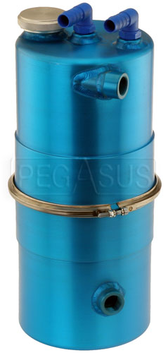 "Large photo of Lightweight Easy Clean Oil Tank 6.5"" dia x 14"" High, Blue, Pegasus Part No. 1256-200-BLUE"