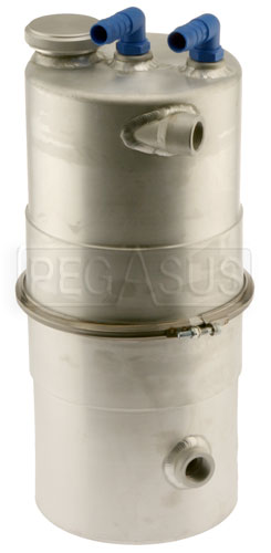 "Large photo of Lightweight Easy Clean Oil Tank 6.5"" dia x 14"" High, Pegasus Part No. 1256-200"