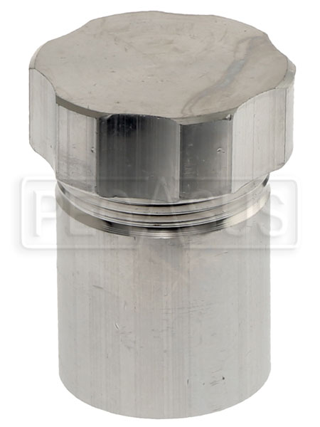 Large photo of OBP Weld-On Aluminum Filler Neck with Cap, 40mm OD, Pegasus Part No. 1256-261