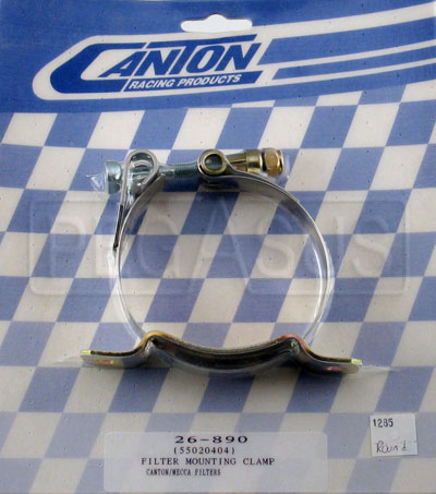 Large photo of Round Mounting Clamp for Older Canton Remote Filters, Pegasus Part No. 1285-ROUND