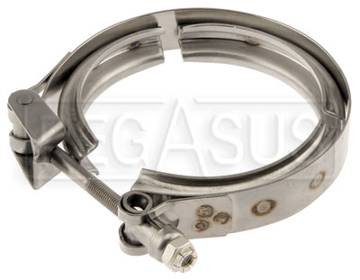 Large photo of Stainless Steel V-Band Clamp, Pegasus Part No. 1318-102-Diameter