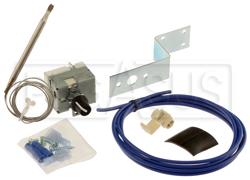 Large photo of Davies Craig Adjustable Thermal Fan Switch with Sensor Probe, Pegasus Part No. 1591-010