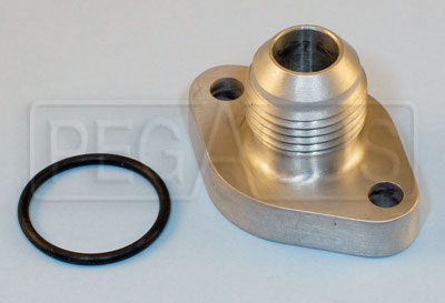 Large photo of 8AN Flanged Inlet Fitting for Pace Filter Pump, Pegasus Part No. 167-03-8AN