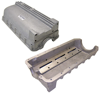 Large photo of ARE Cast Aluminum Dry Sump Oil Pan for 1.6L Van Diemen, Pegasus Part No. 167-26