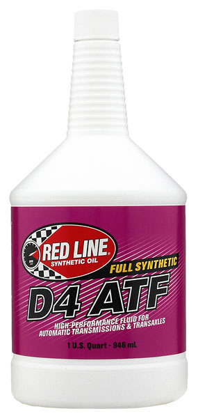 Large photo of Red Line Synthetic D4 ATF Dexron III, Pegasus Part No. 1688-Quantity