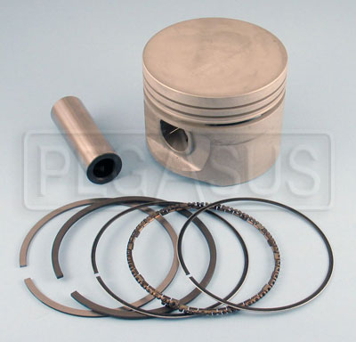 Large photo of 2.0L AE Hepolite Piston with Rings & Pin, 1985 Spec, each, Pegasus Part No. 171-15-STK