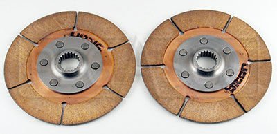 "Large photo of Tilton 5.5"" OT-3 Dual Clutch Discs, 1 std, 1 thn hub, 7/8x20, Pegasus Part No. 173-53"