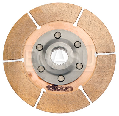 "Large photo of Tilton 5.5"" OT-3 Clutch Disc, Metallic, Ext Hub, 7/8 x 20, Pegasus Part No. 173-61"