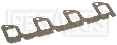 Large photo of 2.0L Single Piece Graphite Exhaust Manifold (Header) Gasket, Pegasus Part No. 174-18