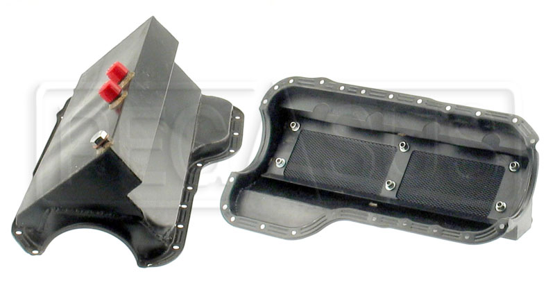Large photo of 2.0L Steel Fabricated Dry Sump Pan with Right Sump, Pegasus Part No. 177-98-001