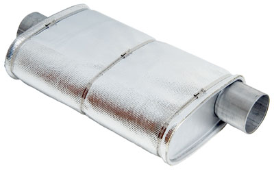 Large photo of Thermo Tec Aluminized Aramid Muffler Cover, Pegasus Part No. 1835-129