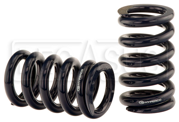 "Large photo of Hyperco High-Performance Chassis Springs, 2 1/4"" I.D., Pegasus Part No. 185-Length-Rate"