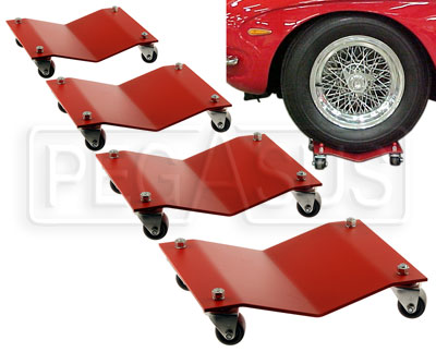 Large photo of Auto Dolly, Standard Pad, set of four, Pegasus Part No. 1860-501-Size