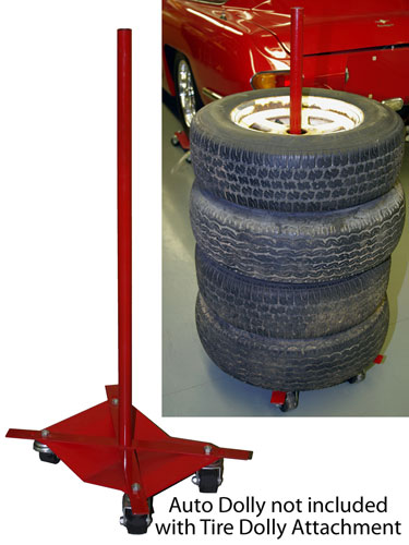 Large photo of Auto Dolly Tire Stack Attachment, Pegasus Part No. 1860-512