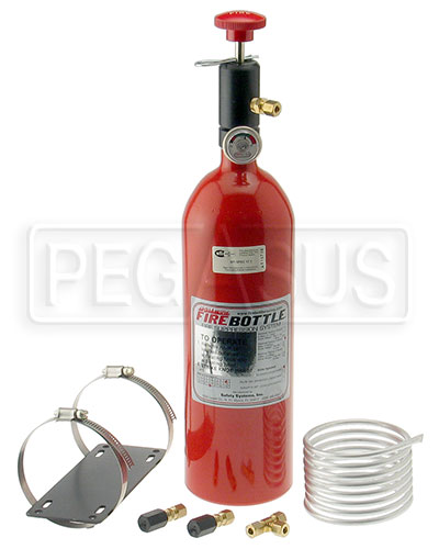 Large photo of (H) FireBottle 5lb. Halon Push System, Pegasus Part No. 2004